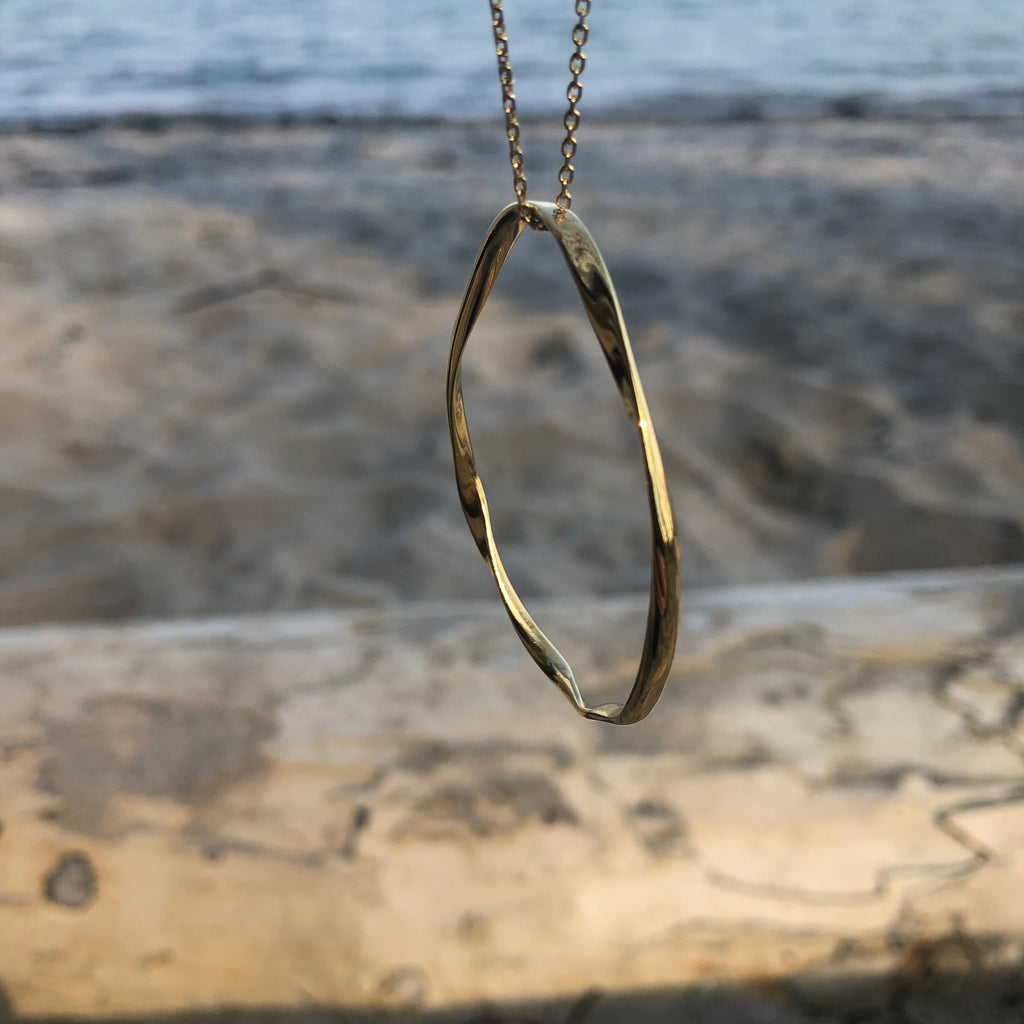 Twisted Gold Pendant