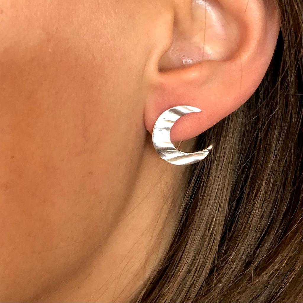 Crescent Moon ear studs
