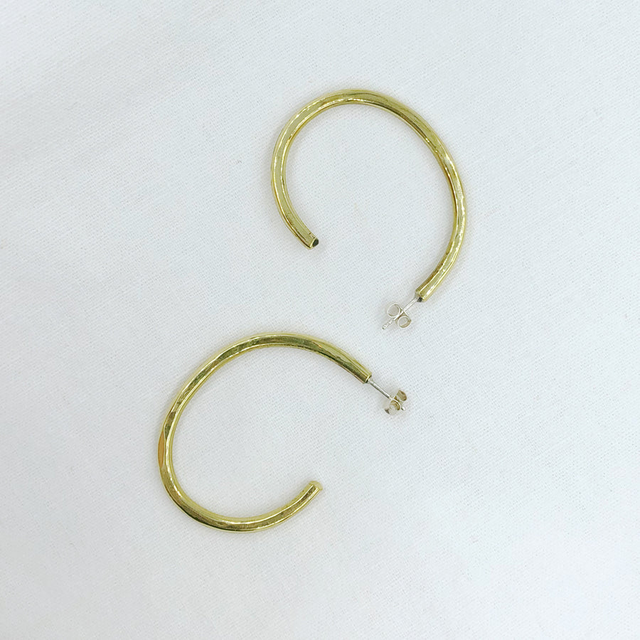 Brass oval statement hoops