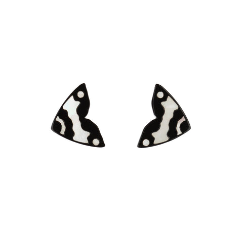 Monarch Mini Studs - Black & White