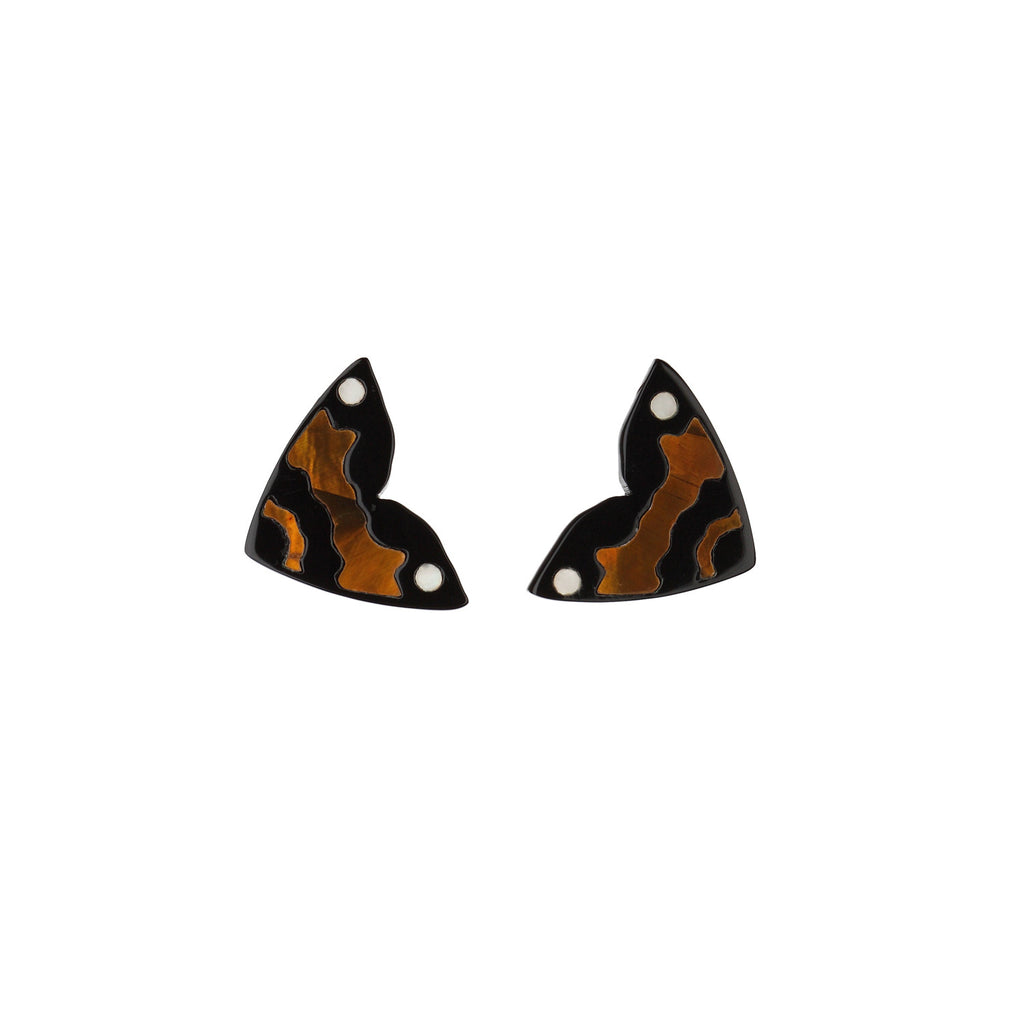 Monarch Mini Studs - Gold & White