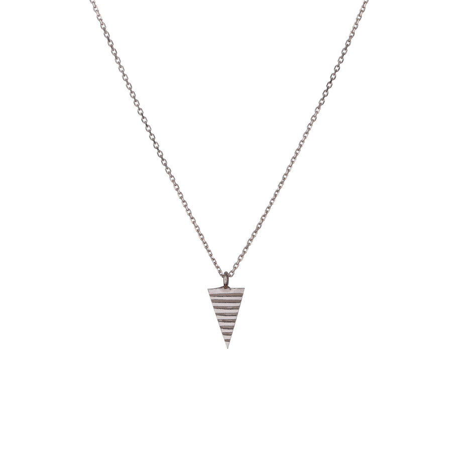 Teepee Pendant in Silver