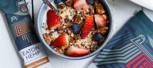 Apple Walnut Cinnamon Baked Granola