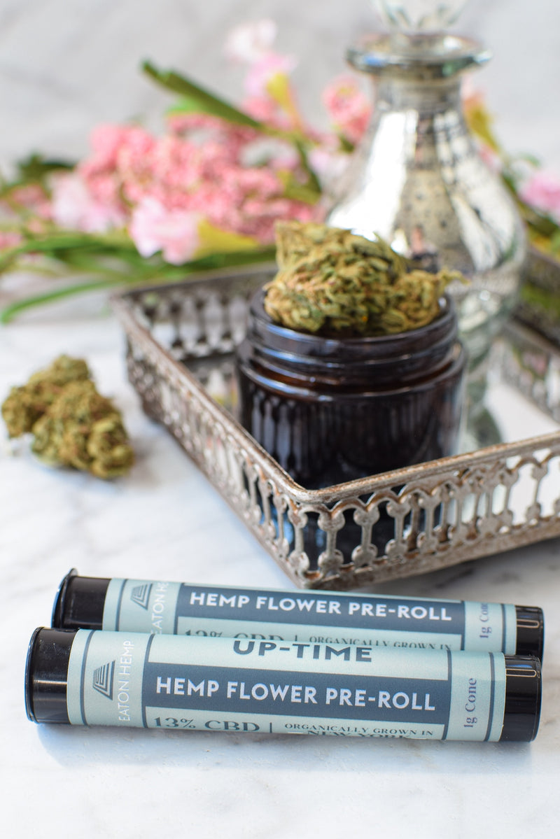 Hemp CBD Flower Pre-Rolls: Up-Time