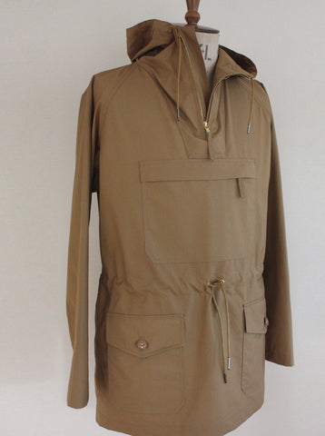 Lightweight Cotton Cagoule Water Repellent Sand