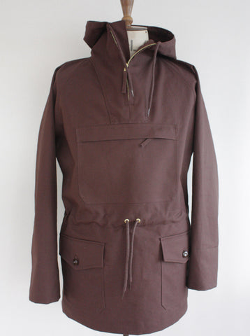 Waterproof Cotton Mens Cagoule Brown