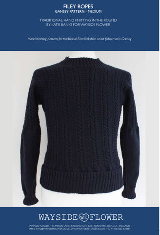 Gansey Pattern - Filey Rope Hand Knitting Pattern