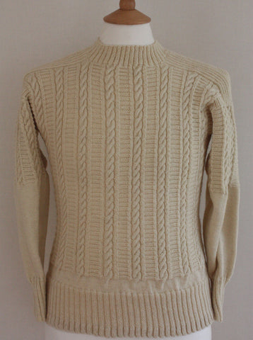 Gansey Jumper Filey - Cream Small