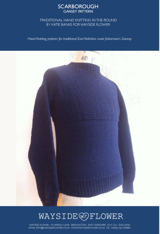 Gansey Pattern - Scarborough Hand Knitting Pattern