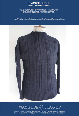 Gansey Pattern - Flamborough Hand Knitting Pattern