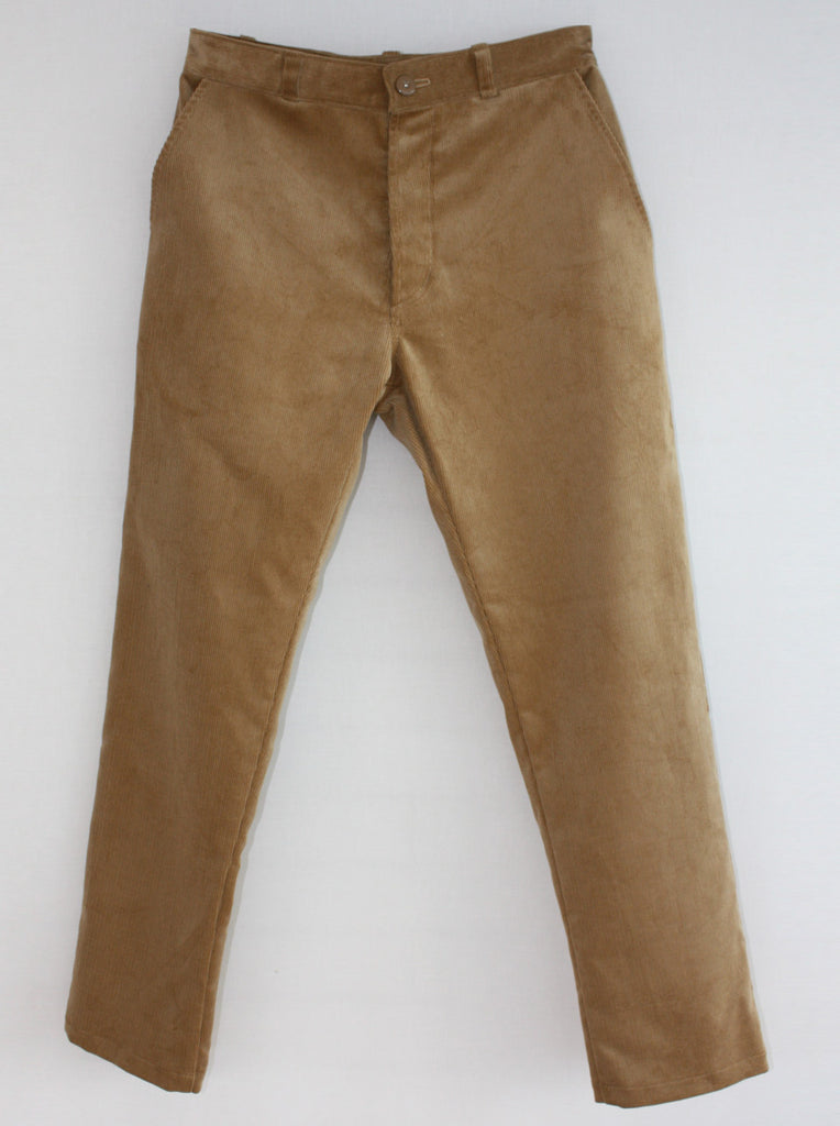 Wayside Flower corduroy trouser fawn front view