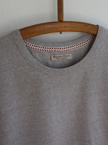 Japanese Cotton T-Shirt Grey Marl