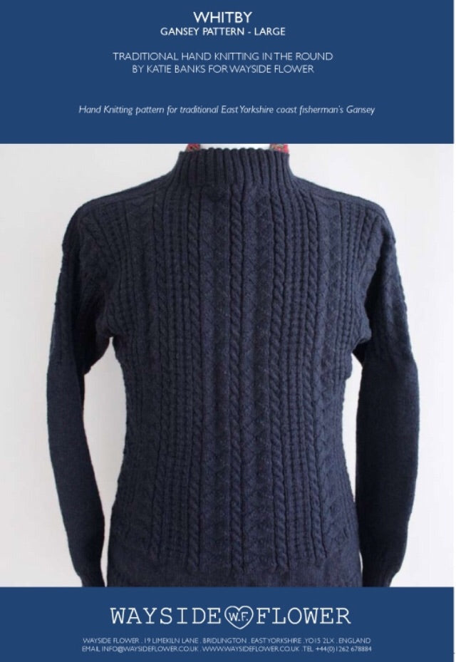 Gansey Pattern - Whitby Hand Knitting Pattern