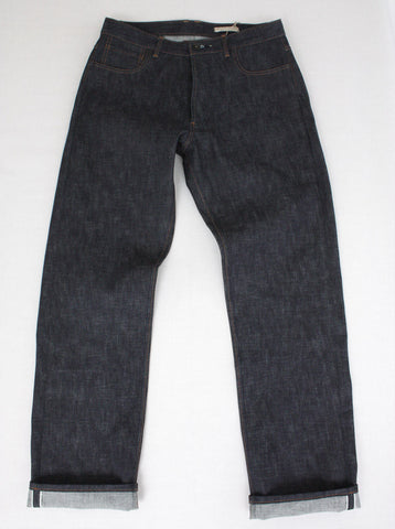 Selvedge Denim Jean - Natural Indigo - Tan Stitch - Classic
