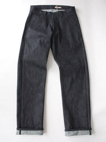 Selvedge Denim Jean - Natural Indigo - Navy Stitch - Unwashed