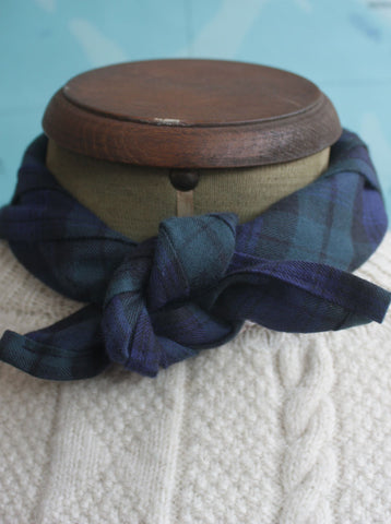 Fisherman's Neck Scarf Blackwatch Tartan, Small