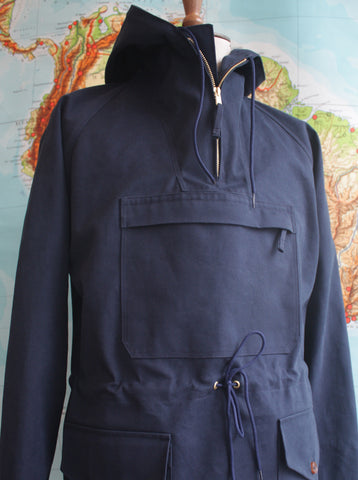Panama Canvas Dalesman Mens Cagoule Navy