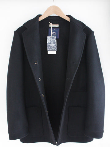 Melton Wool Jacket Black