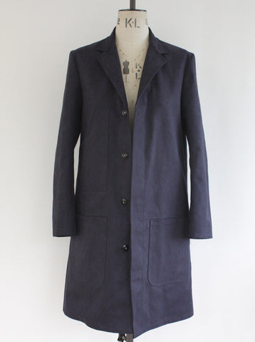 Shop Coat Heavy Twill Navy