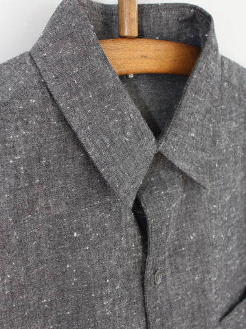 Slub Cotton Shirt Grey
