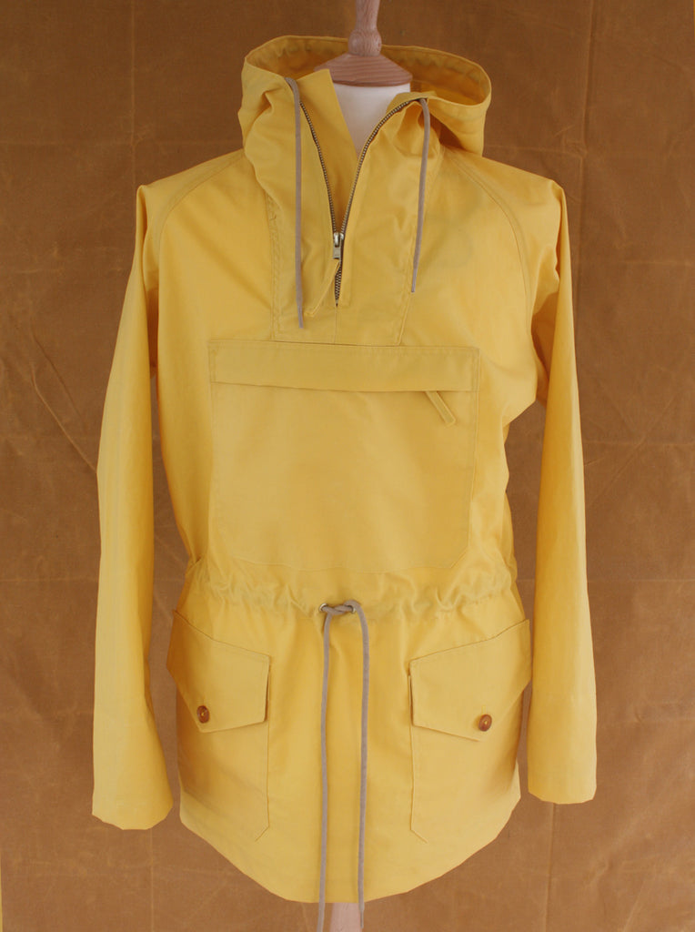 Wayside Flower waxed cotton kagoiule mustard front view