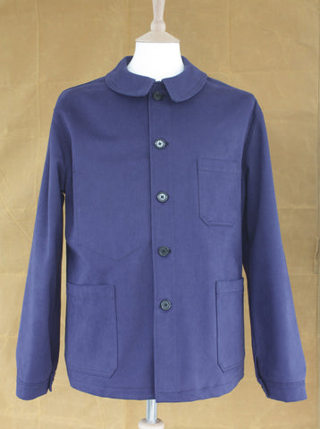 Heavy Twill Mens Workwear Jacket Indigo