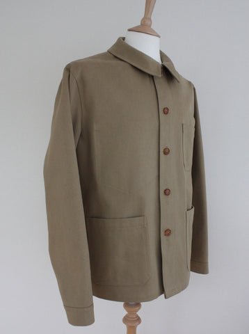 Heavy Twill Mens Workwear Jacket Khaki