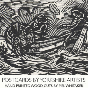 yorkshire artists hand printed postcards Mel Whitaker