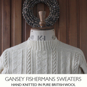 hand knitted Gansey sweaters Yorkshire wool