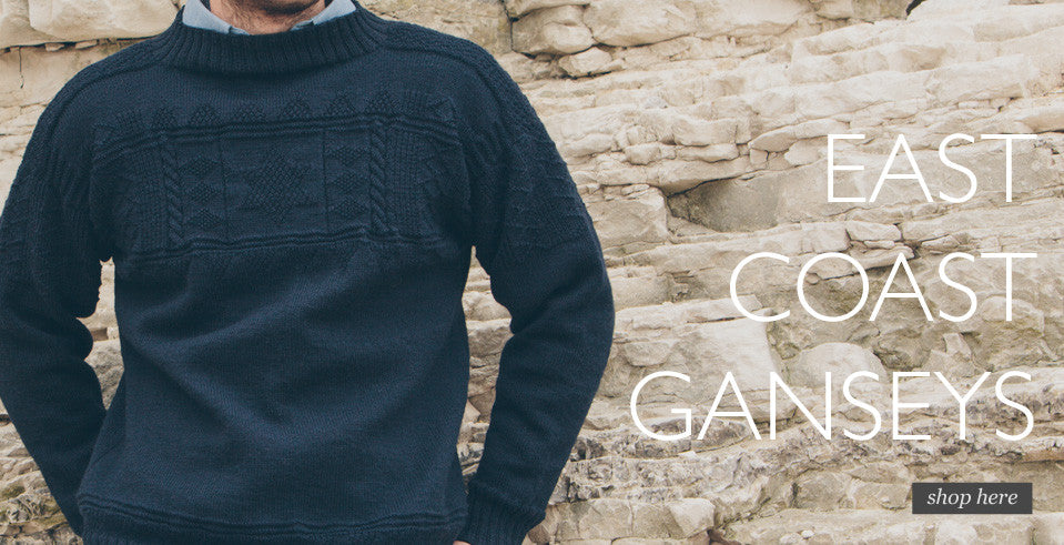 gansey mens Humber Keel gansey wool sweater Navy