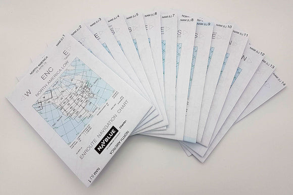 NAVBLUE IFR Paper Enroute Charts - North America (Low Series)