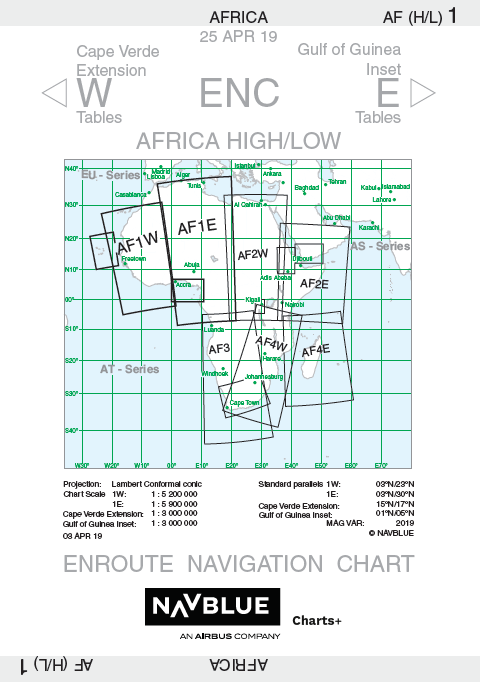 NAVBLUE IFR Enroute Paper Charts - Africa