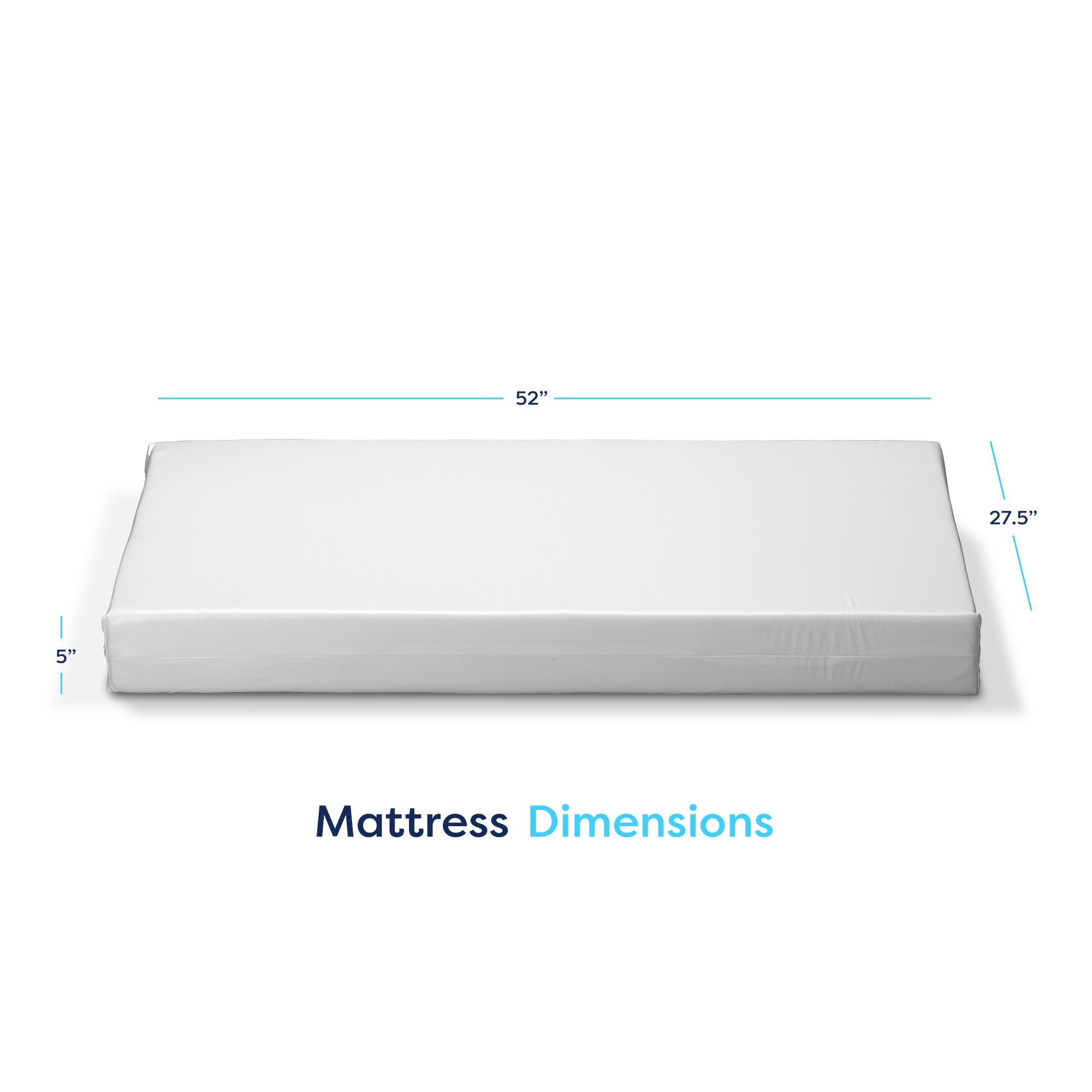 Dimensions for Basic Bluebird Crib Mattress