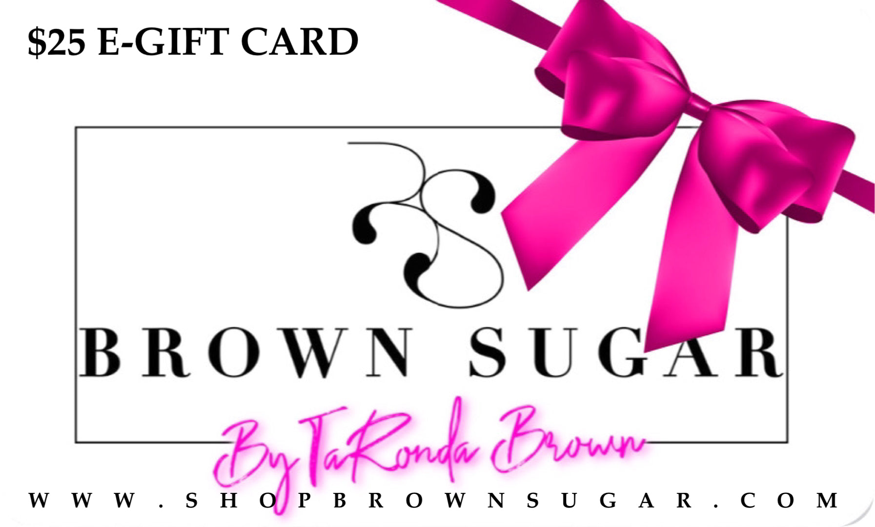 Shop Brown Sugar Gift Card