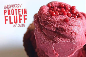 Raspberry Protein Fluff Ice-Cream