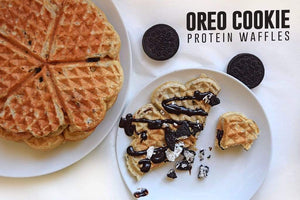 Oreo Cookie Protein Waffles
