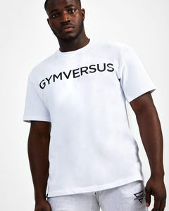 Big Logo Superset Oversized Cotton Tee - White - GYMVERSUS
