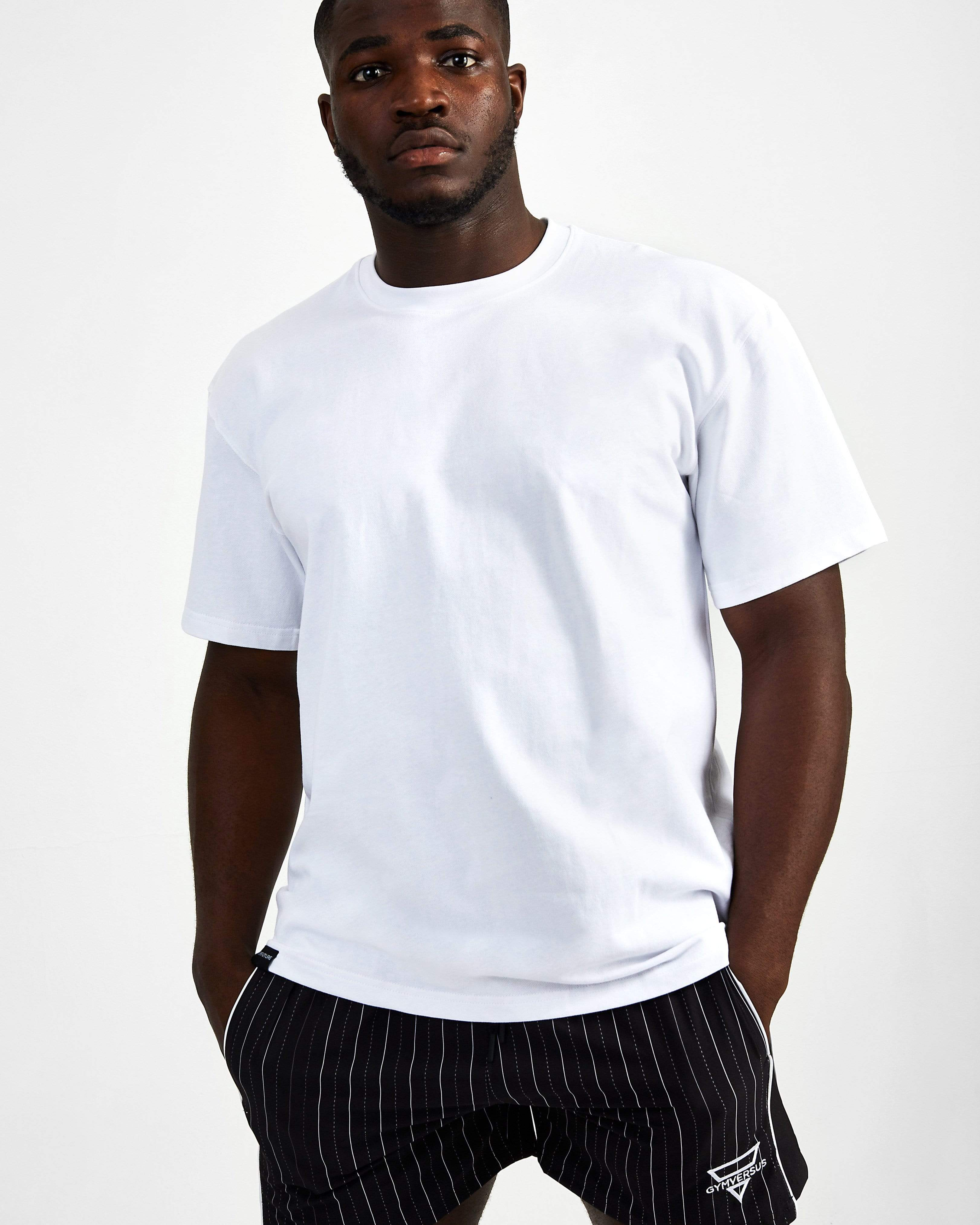 Blank Superset Oversized Cotton Tee - White - GYMVERSUS