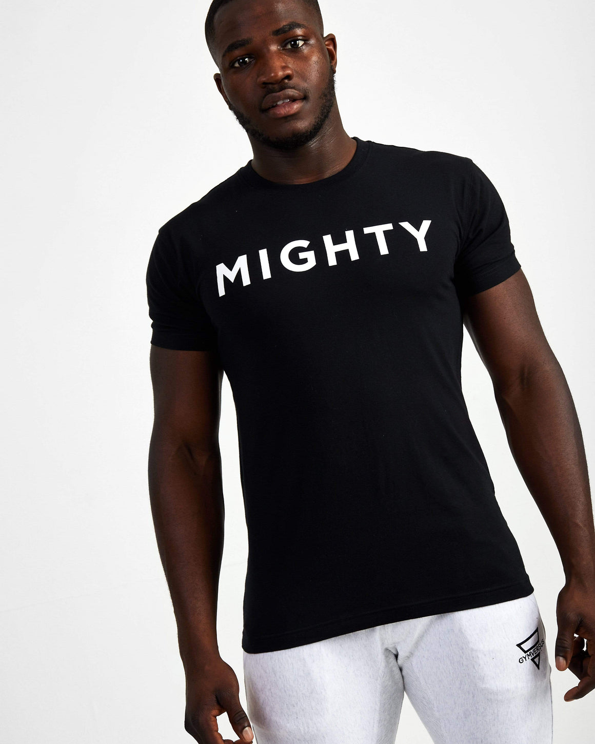 Mighty Starter Crew Neck Tee - Black
