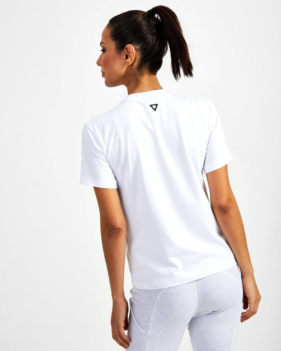 Strong Starter Crew Neck Tee - White - GYMVERSUS