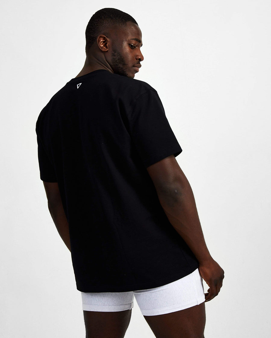 Blank Superset Oversized Cotton Tee - Black