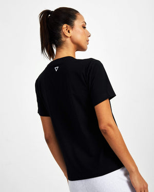 Mighty Starter Crew Neck Tee - Black - GYMVERSUS