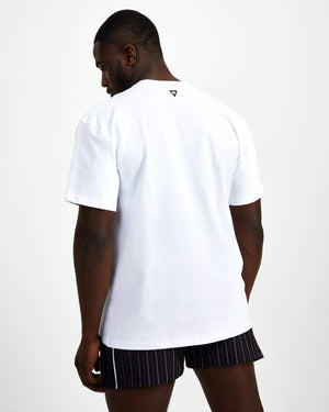 Hero Superset Oversized Cotton Tee - White - GYMVERSUS
