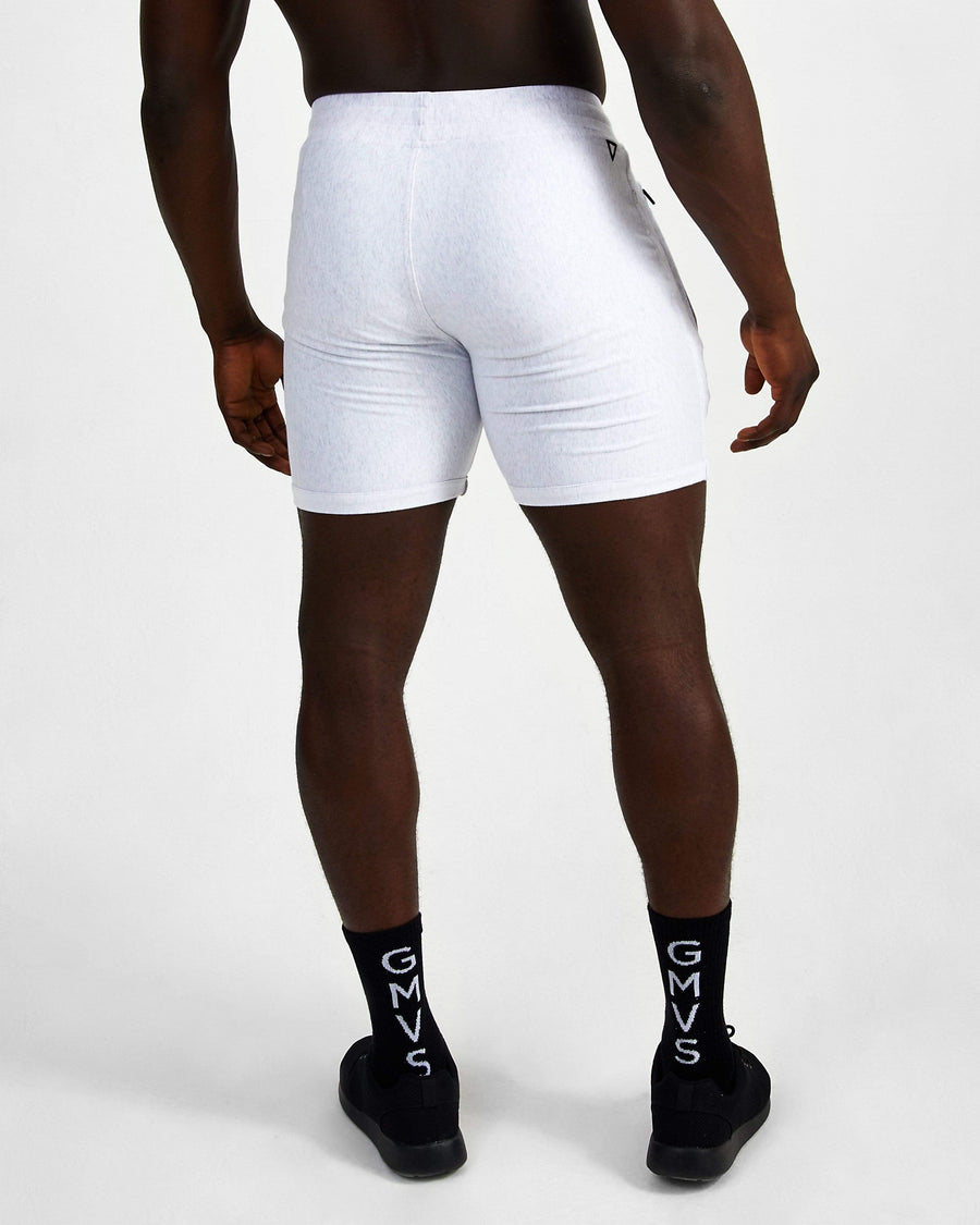 Everyday Fitted Shorts - Marl Grey - GYMVERSUS