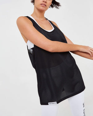 Heavyweight Airtex Vest - Black - GYMVERSUS