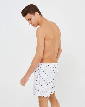 Triangle Swim Shorts - White