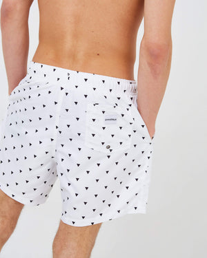 Triangle Swim Shorts - White - GYMVERSUS