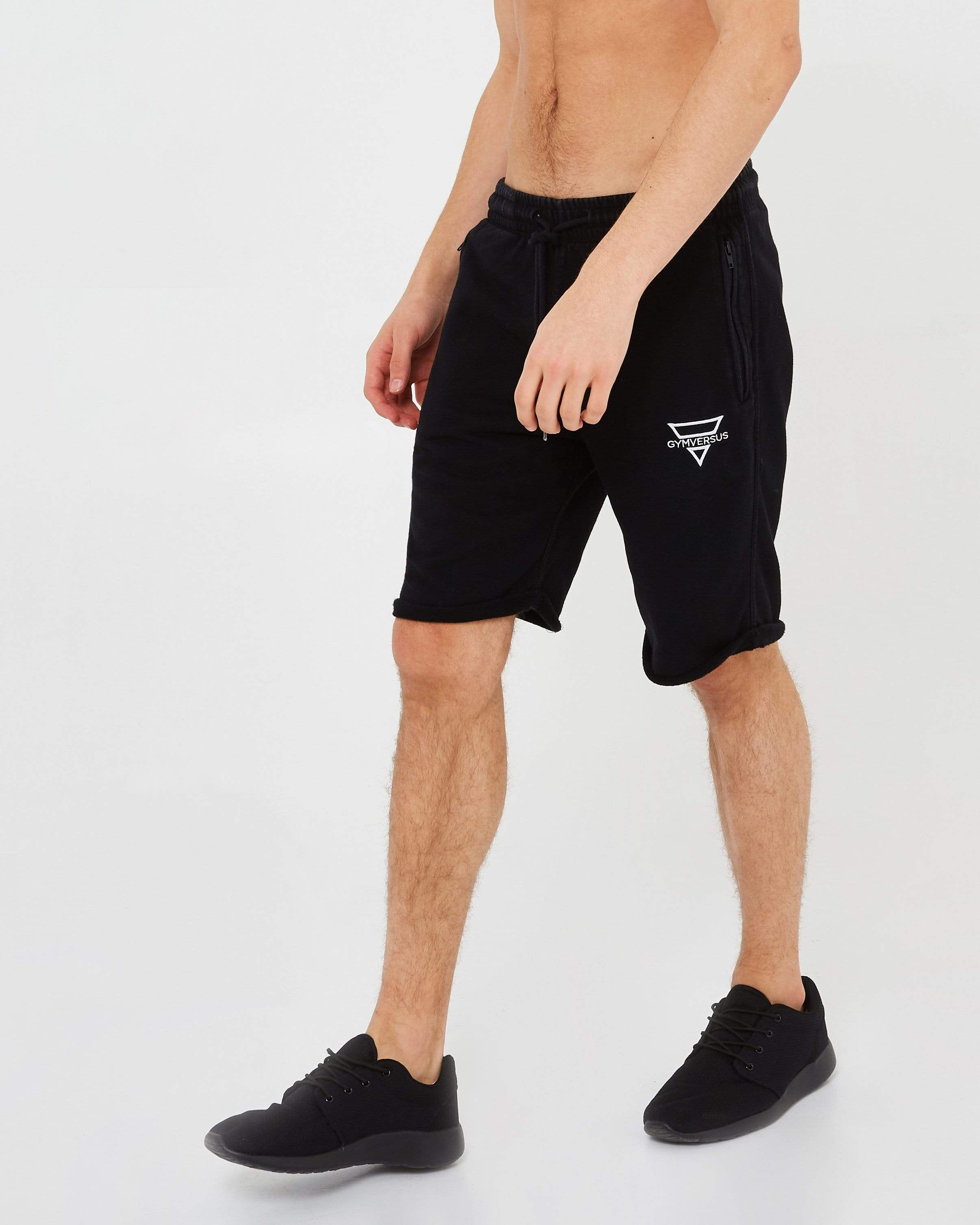 Fitted Jersey Shorts - Black - GYMVERSUS