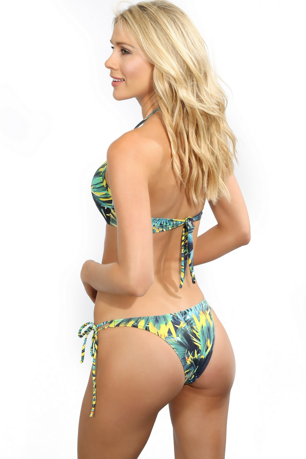 Tropical Print Brazilian Bikini Bottoms