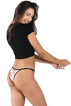 lace Brazilian string bikini underwaer. Adjustable cheeky Women's panty